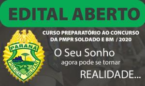 Disciplina Isolada - LÍNGUA PORTUGUESA - Curso Preparatório para Soldado da Polícia Militar e do Corpo de Bombeiros do Paraná – PMPR e BMPR 2020